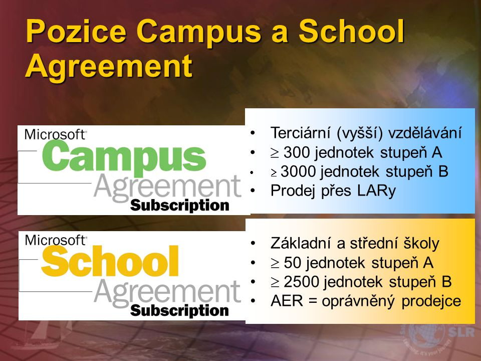 Pozice Campus a School Agreement