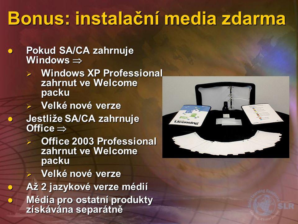 Bonus: instalační media zdarma