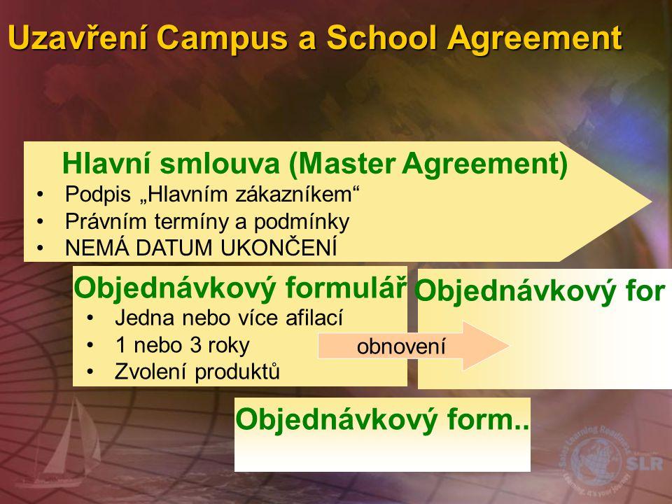 Uzavření Campus a School Agreement