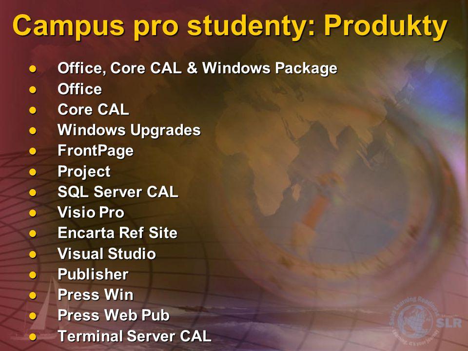 Campus pro studenty: Produkty