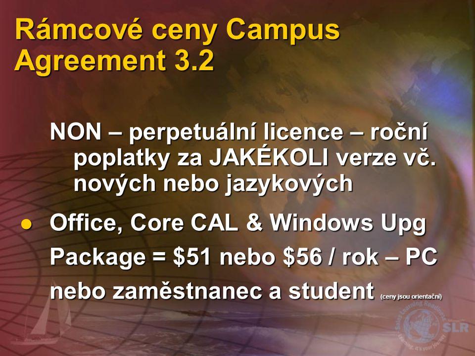 Rámcové ceny Campus Agreement 3.2