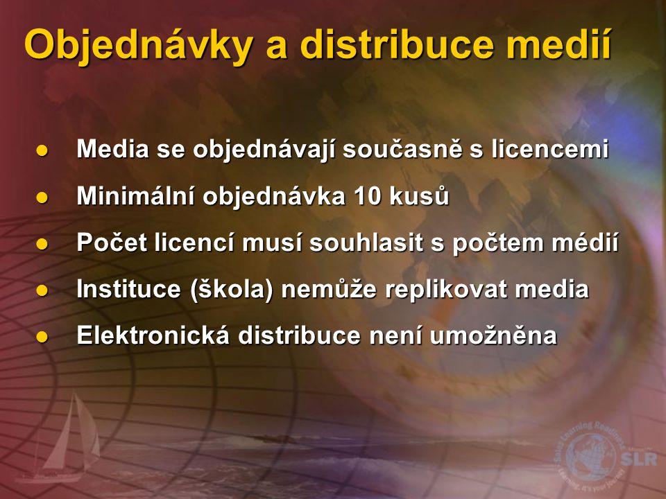 Objednávky a distribuce medií