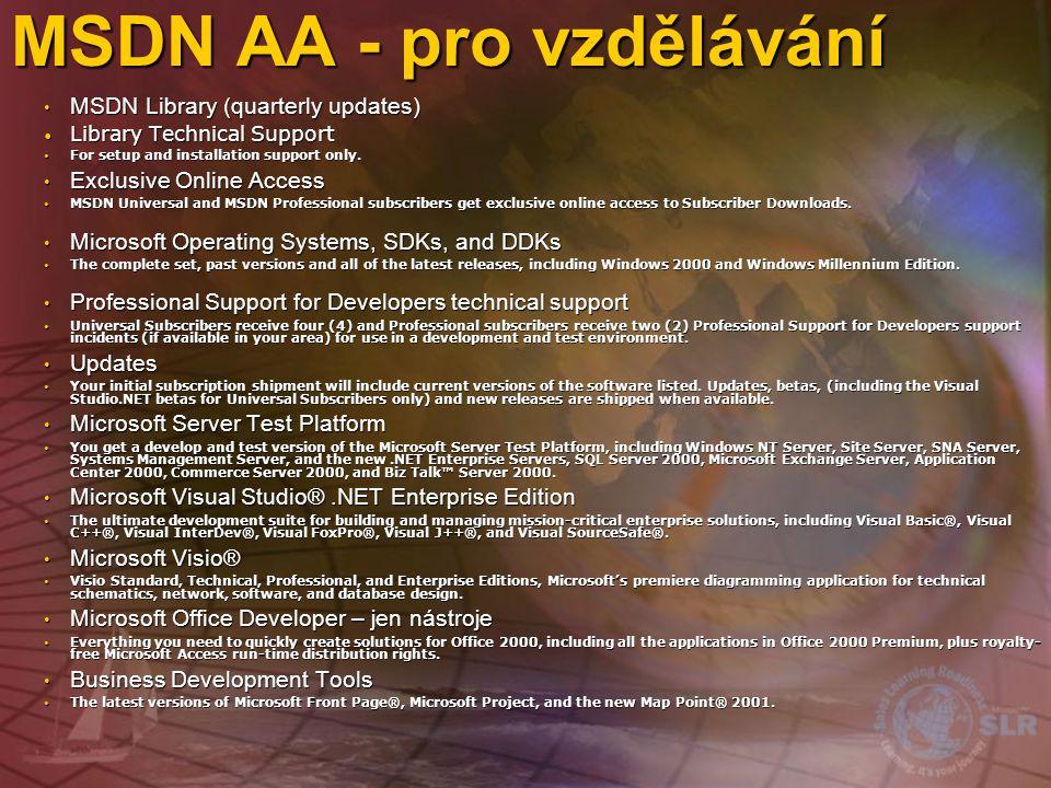 MSDN AA - pro vzdělávání