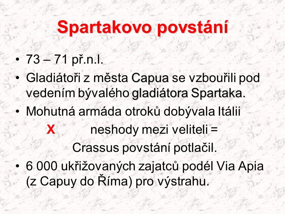 Spartakovo povstání 73 – 71 př.n.l.