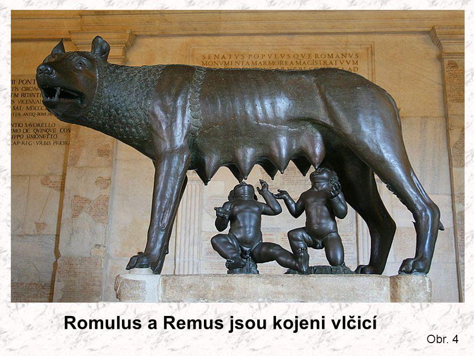 Romulus a Remus jsou kojeni vlčicí