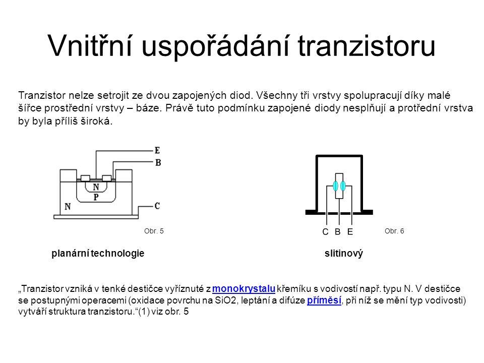 Vnitřní uspořádání tranzistoru