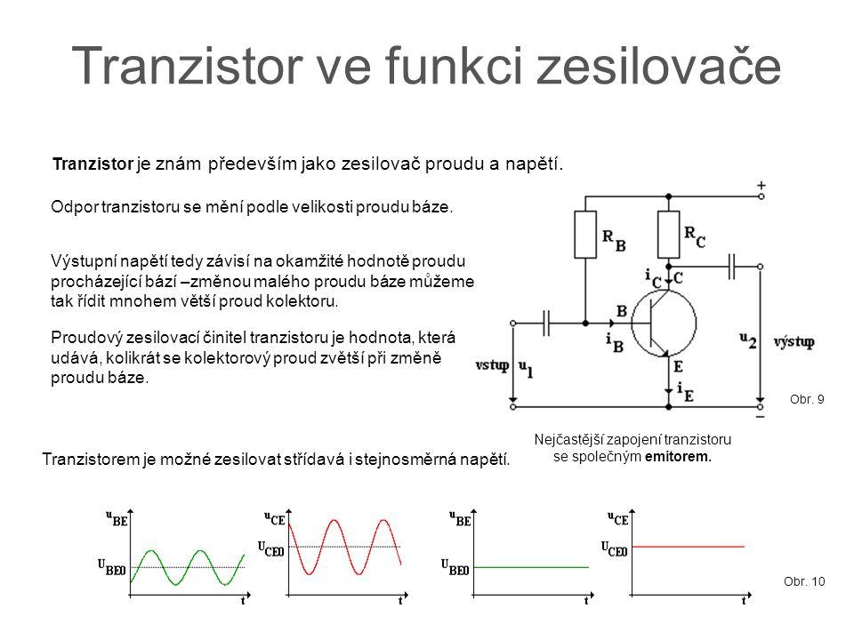 Tranzistor ve funkci zesilovače
