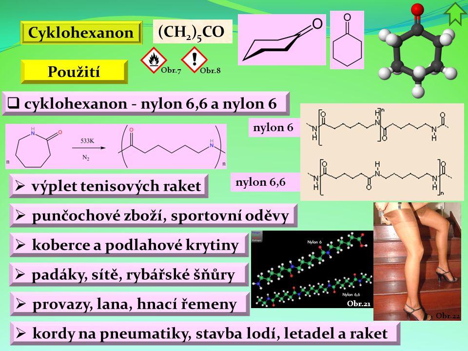 cyklohexanon - nylon 6,6 a nylon 6