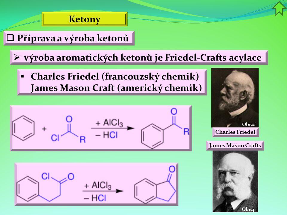 Příprava a výroba ketonů