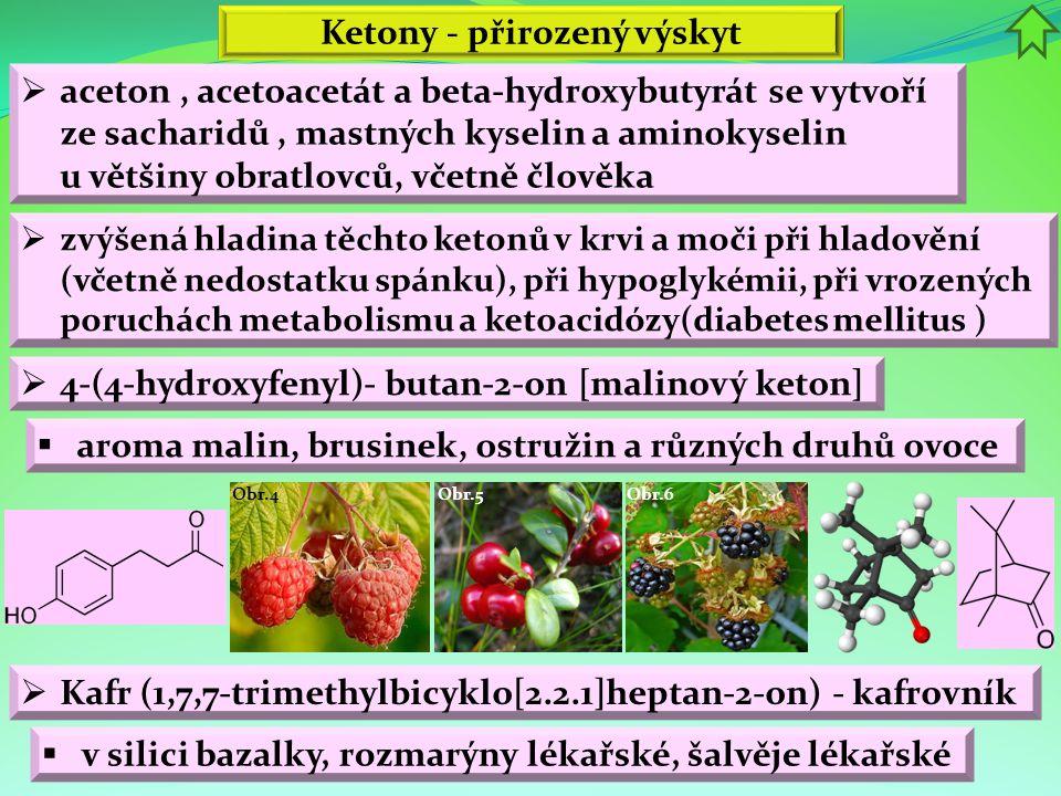 Ketony - přirozený výskyt