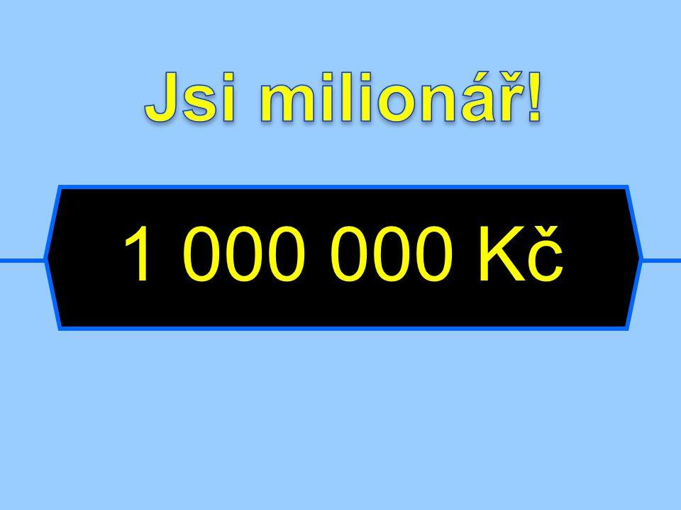 Jsi milionář! 1 000 000 Kč