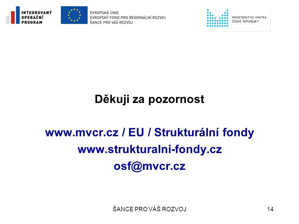www.mvcr.cz / EU / Strukturální fondy