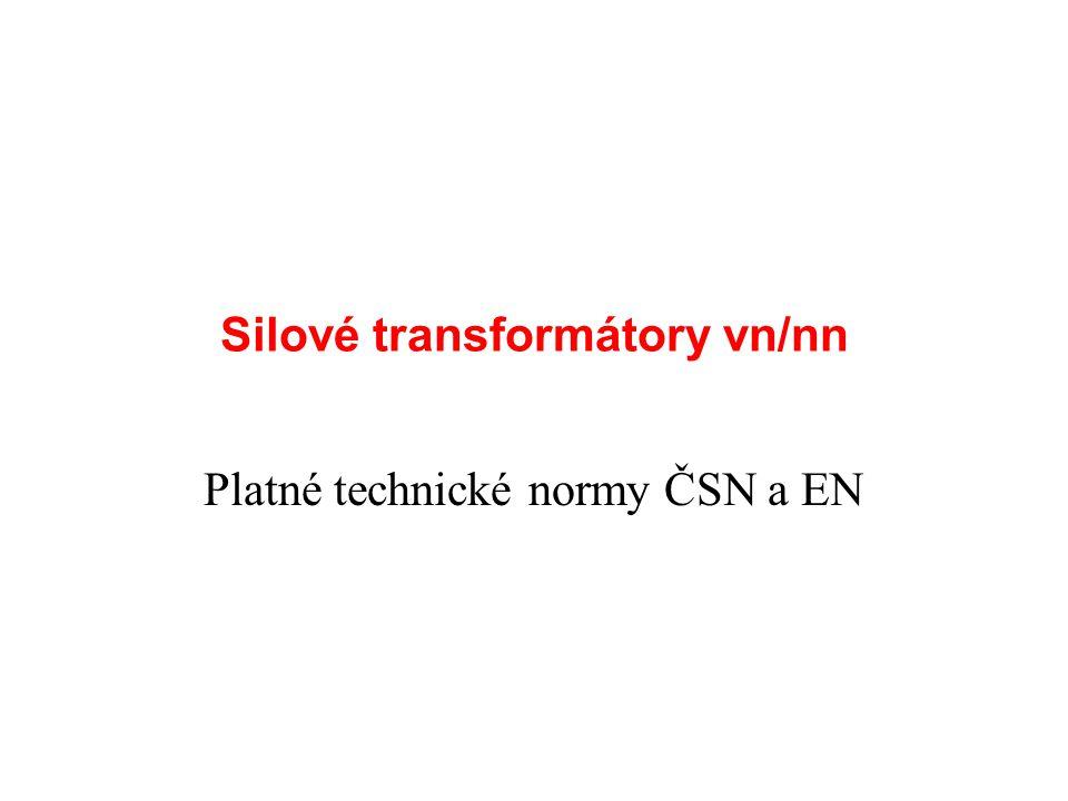 Silové transformátory vn/nn