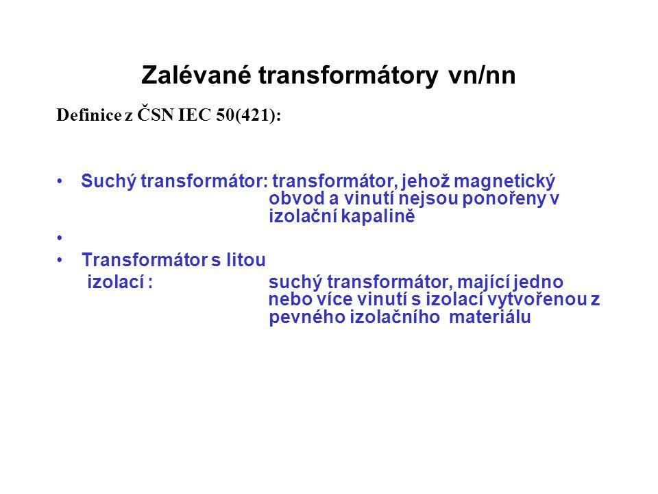 Zalévané transformátory vn/nn