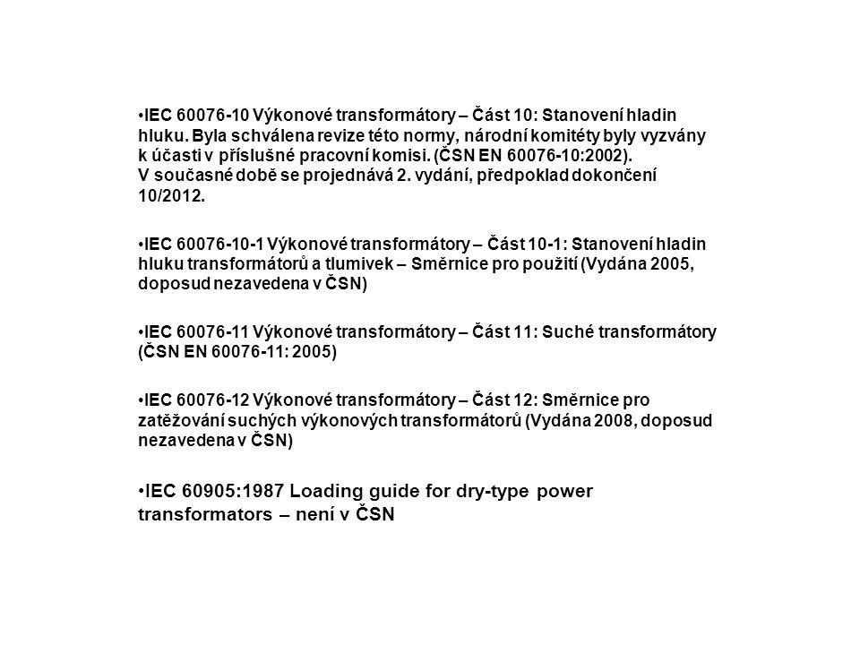 IEC 60076-10 Výkonové transformátory – Část 10: Stanovení hladin hluku