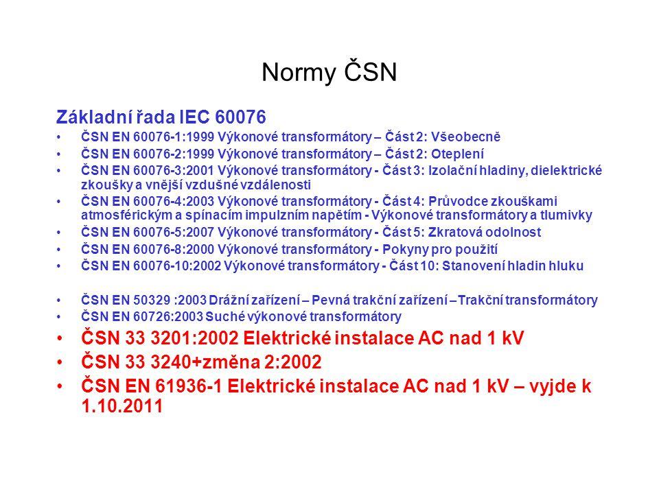 Normy ČSN Základní řada IEC 60076