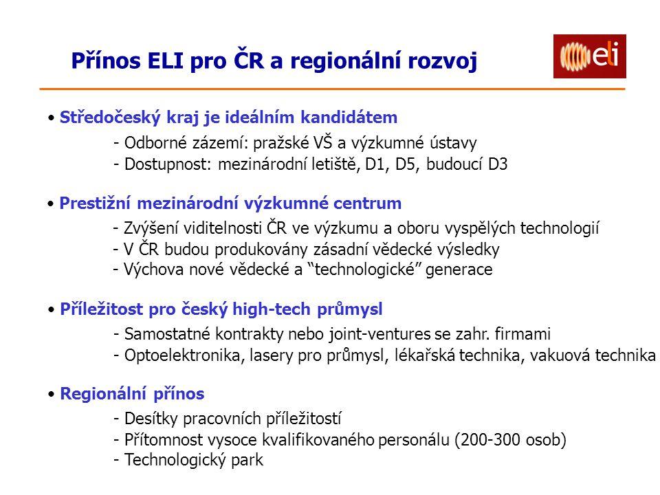 Přínos ELI pro ČR a regionální rozvoj