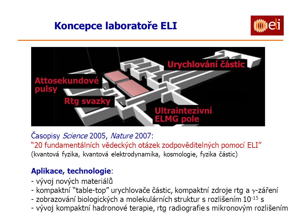 Koncepce laboratoře ELI
