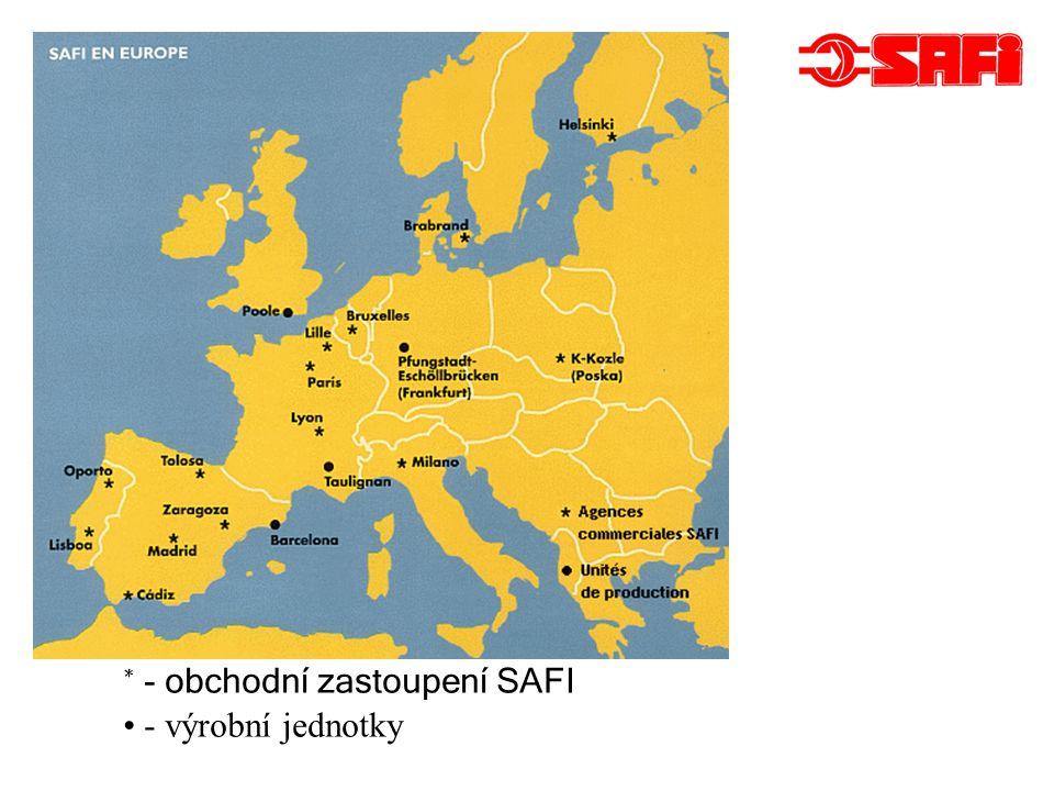 * - obchodní zastoupení SAFI