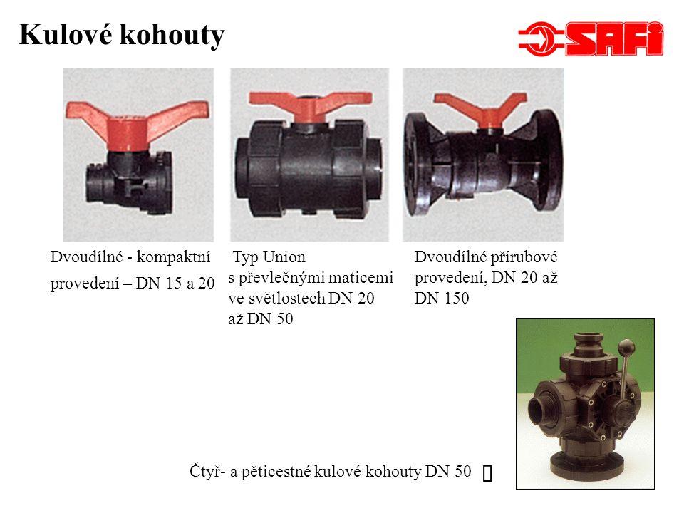 Kulové kohouty è Dvoudílné - kompaktní provedení – DN 15 a 20