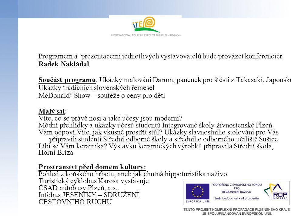 Programem a prezentacemi jednotlivých vystavovatelů bude provázet konferenciér