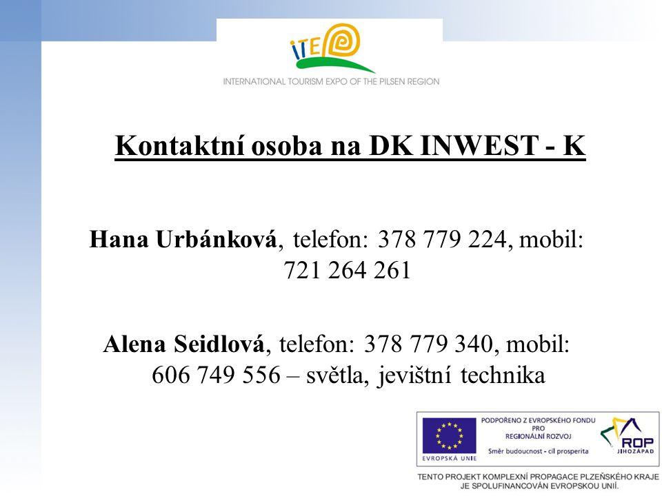 Kontaktní osoba na DK INWEST - K