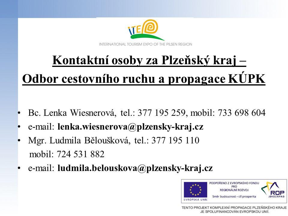 Kontaktní osoby za Plzeňský kraj –