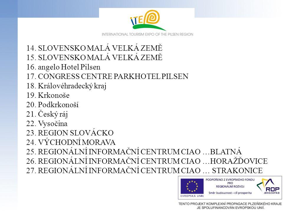14. SLOVENSKO MALÁ VELKÁ ZEMĚ