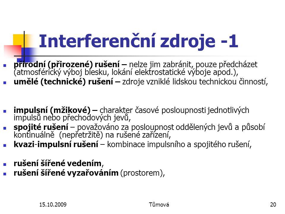 Interferenční zdroje -1