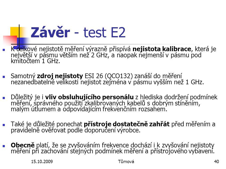 Závěr - test E2