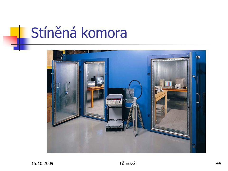 Stíněná komora 15.10.2009 Tůmová