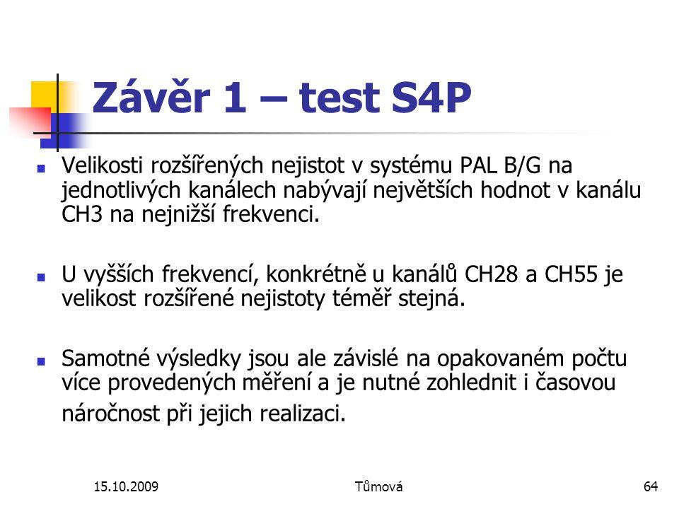 Závěr 1 – test S4P