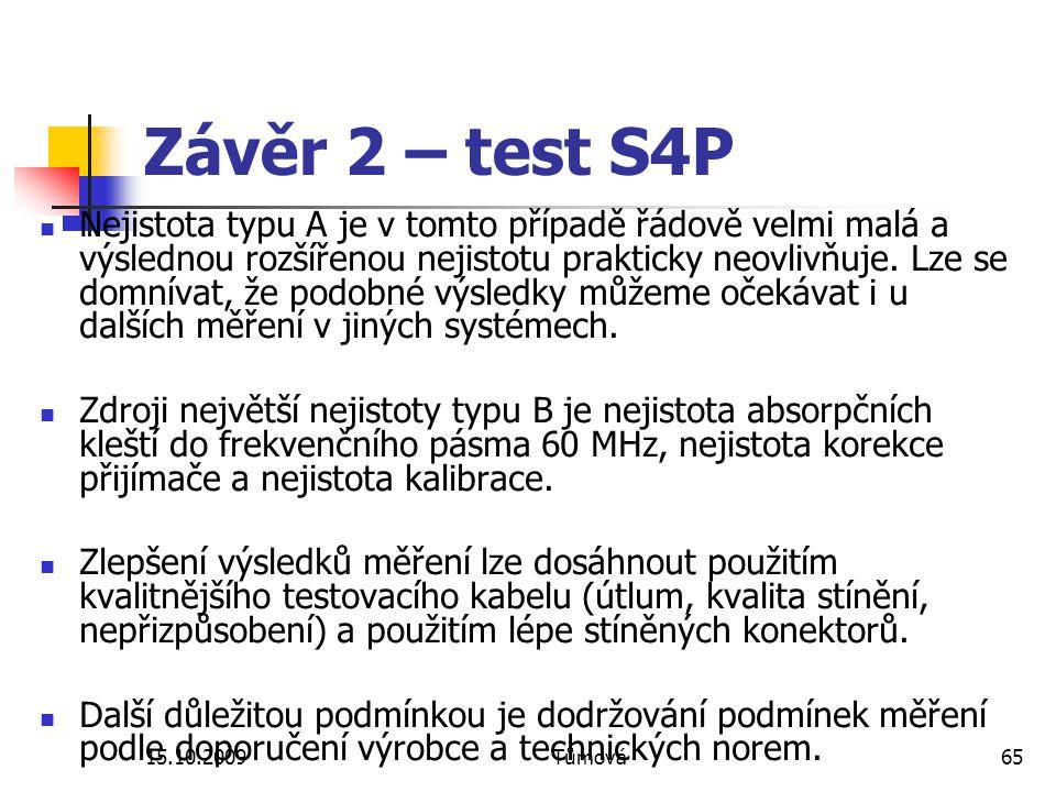 Závěr 2 – test S4P