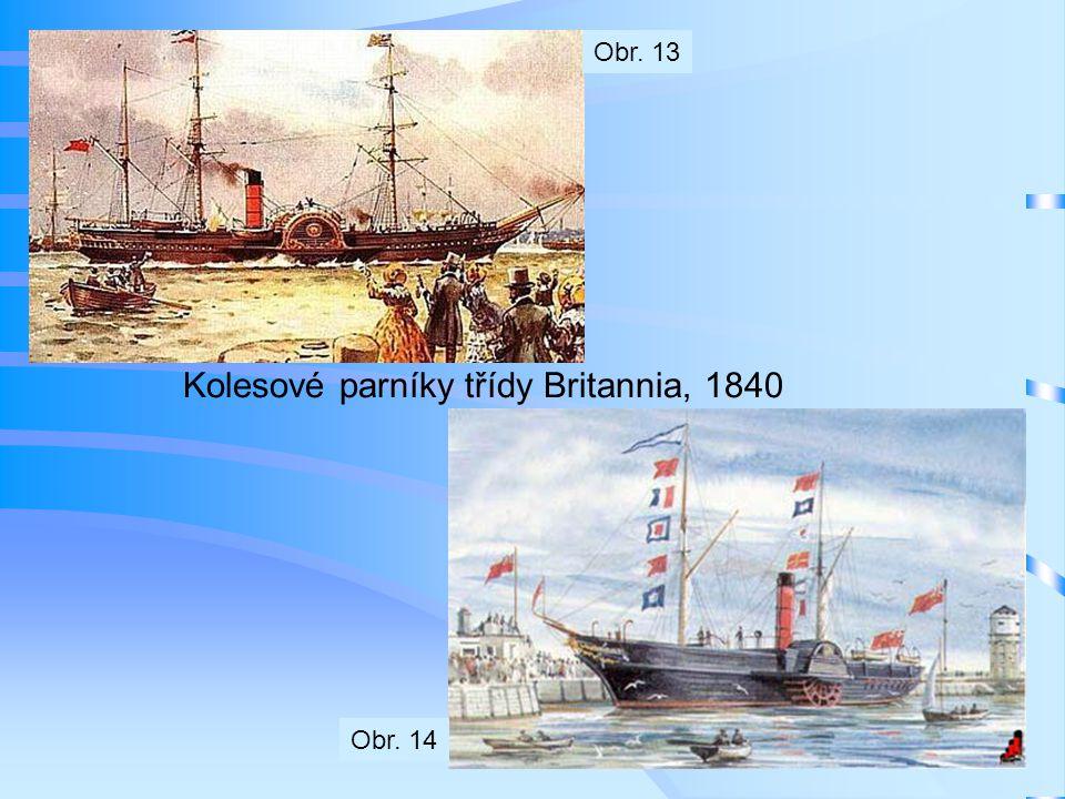 Kolesové parníky třídy Britannia, 1840