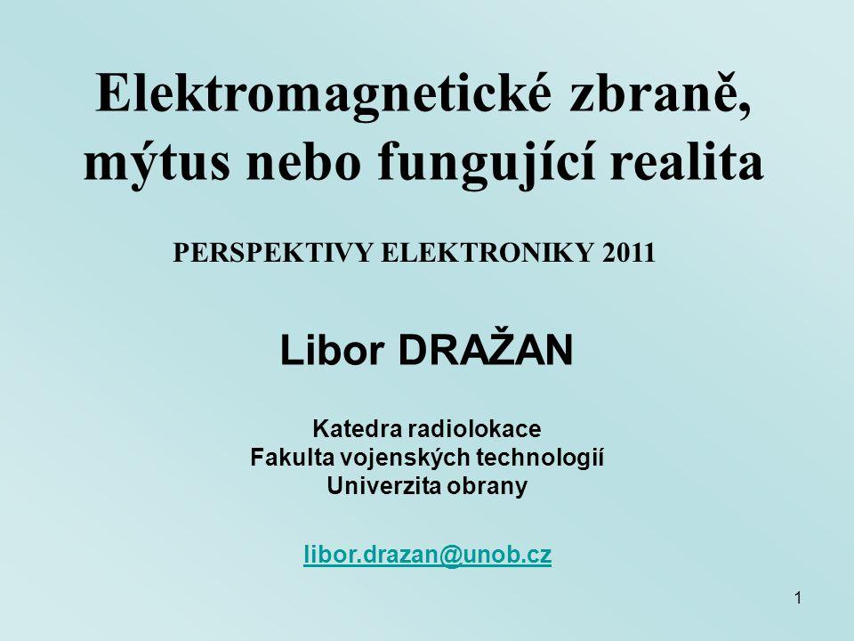 Elektromagnetické zbraně, mýtus nebo fungující realita