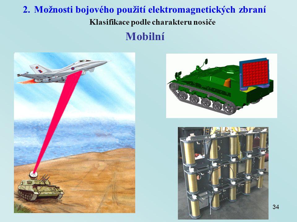 Mobilní Možnosti bojového použití elektromagnetických zbraní