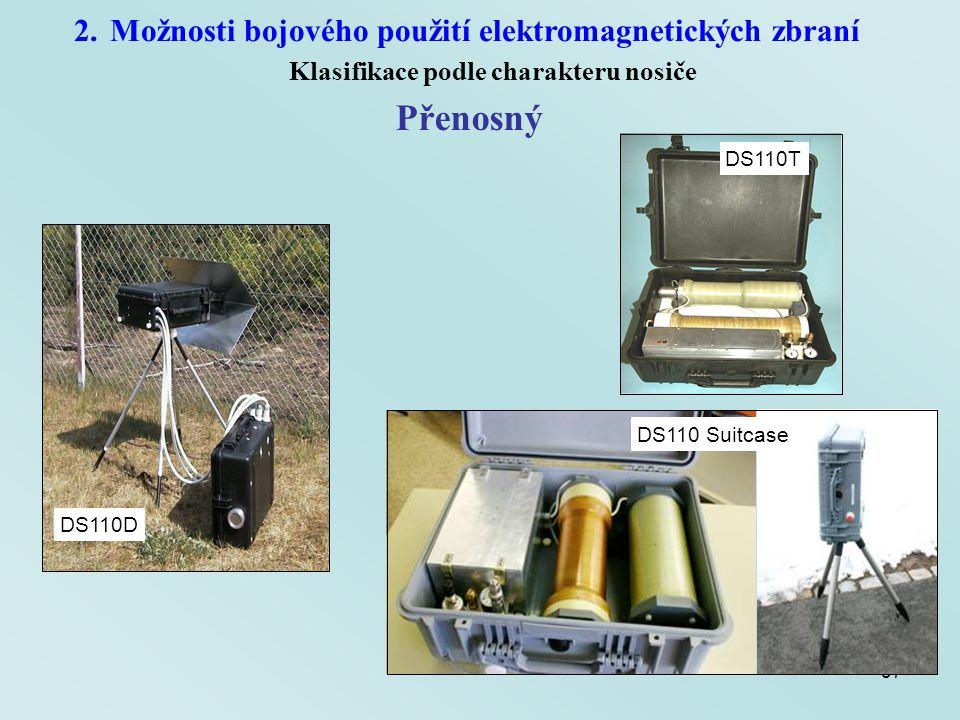 Přenosný Možnosti bojového použití elektromagnetických zbraní
