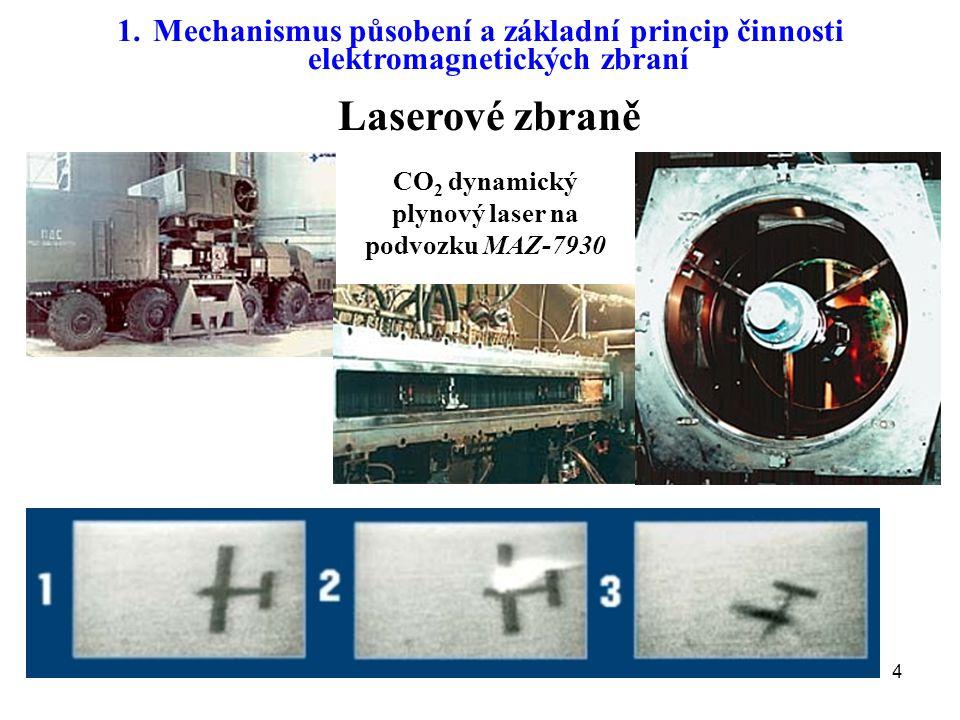 CO2 dynamický plynový laser na podvozku MAZ-7930