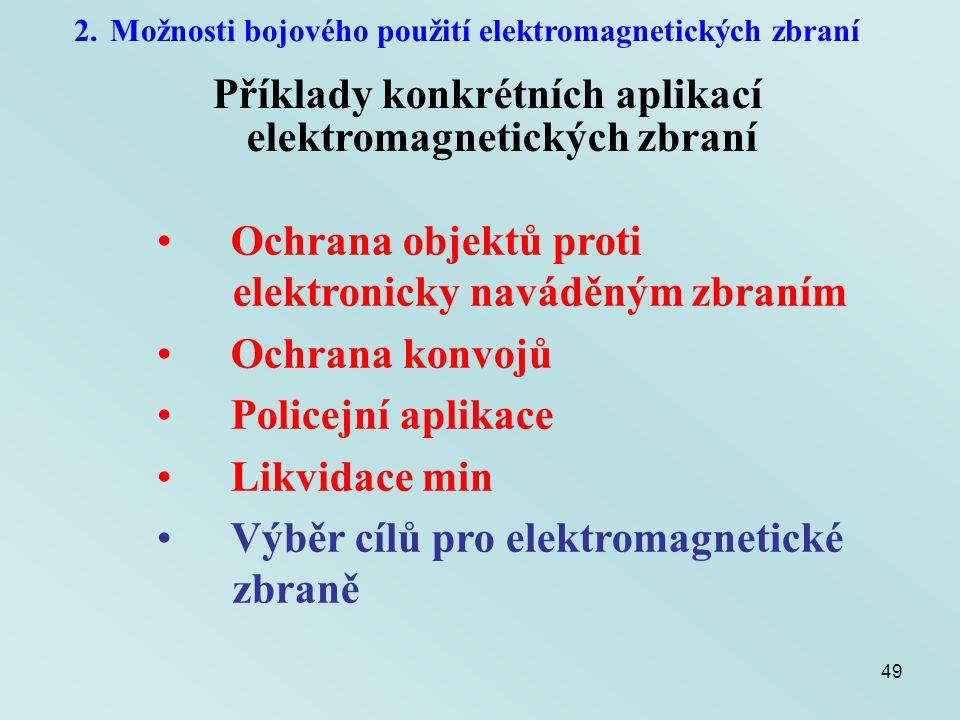 Příklady konkrétních aplikací elektromagnetických zbraní