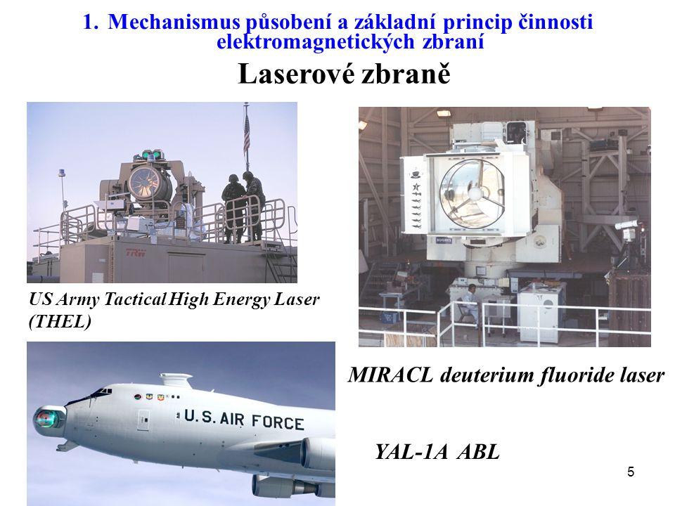 Mechanismus působení a základní princip činnosti elektromagnetických zbraní