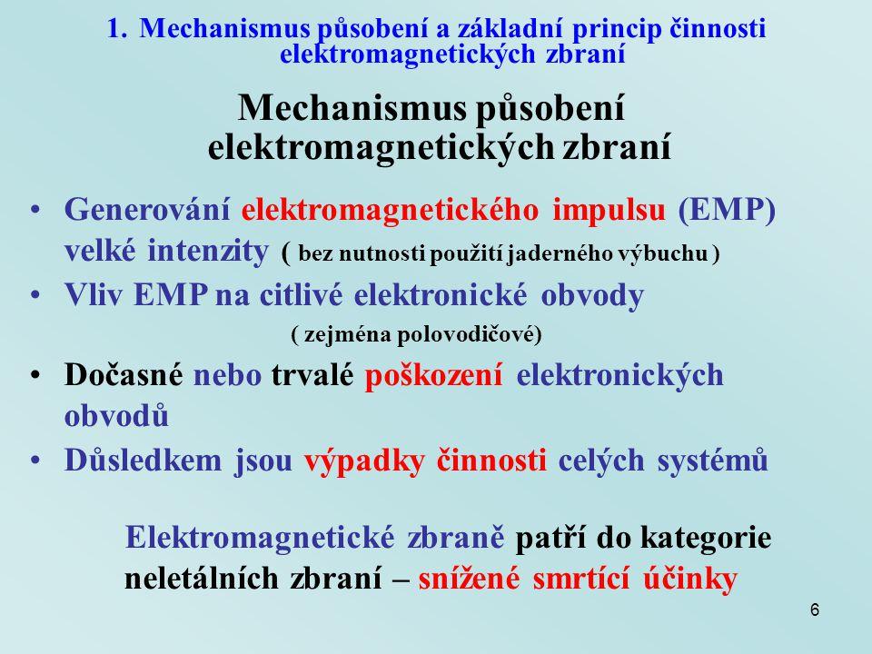 Mechanismus působení elektromagnetických zbraní
