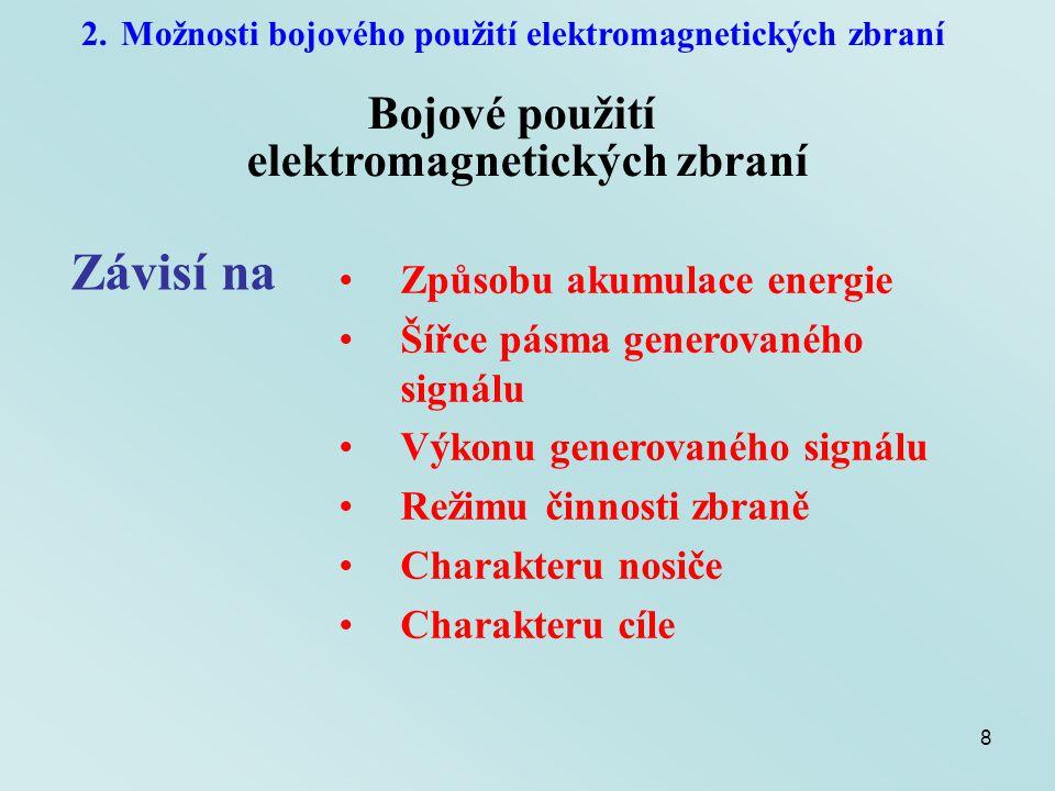 Závisí na Bojové použití elektromagnetických zbraní
