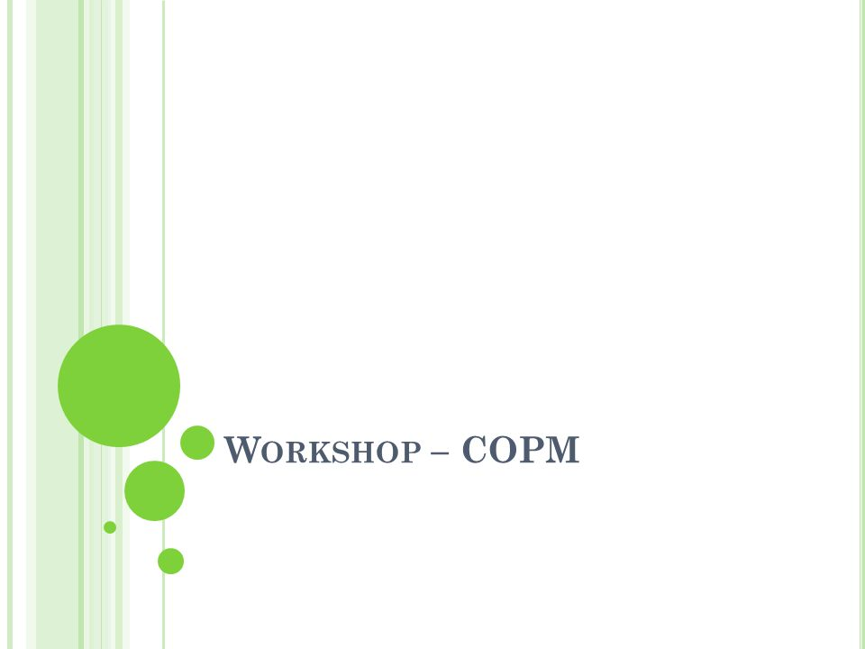 Workshop – COPM