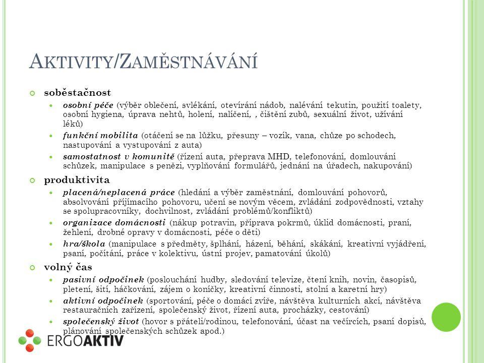 Aktivity/Zaměstnávání