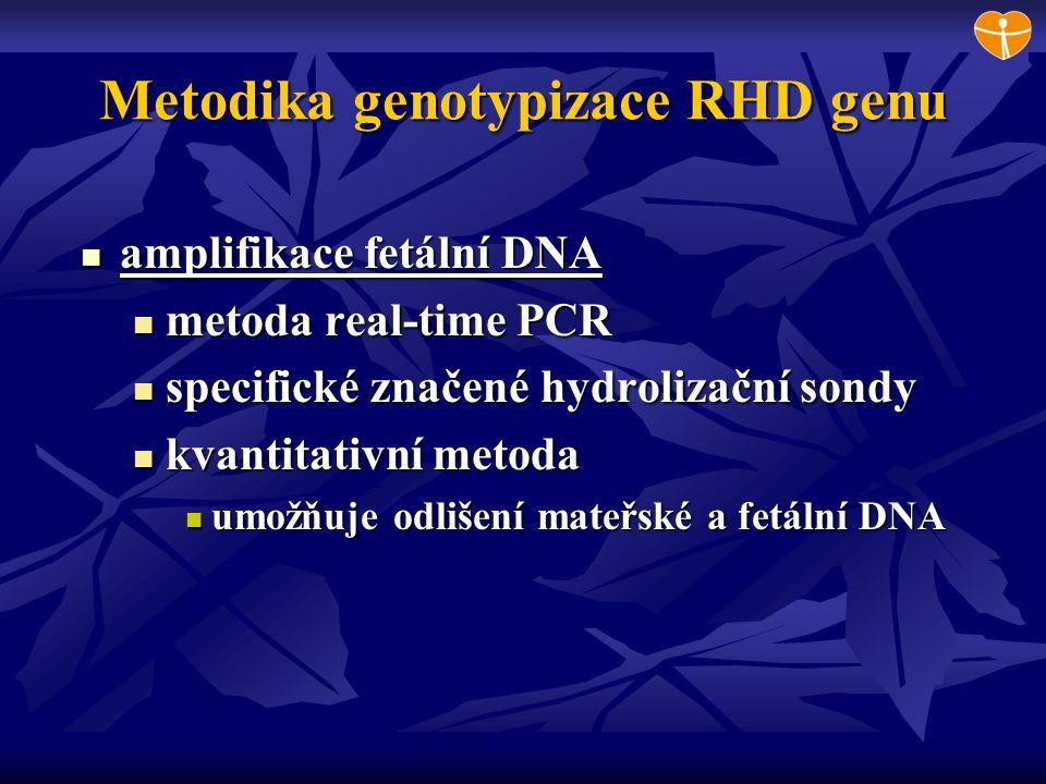 Metodika genotypizace RHD genu