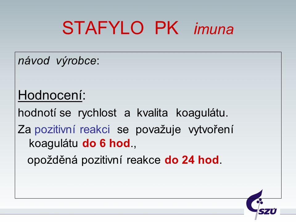 STAFYLO PK imuna Hodnocení: návod výrobce: