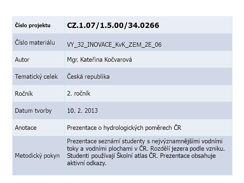 CZ.1.07/1.5.00/34.0266 Číslo materiálu VY_32_INOVACE_KvK_ZEM_2E_06