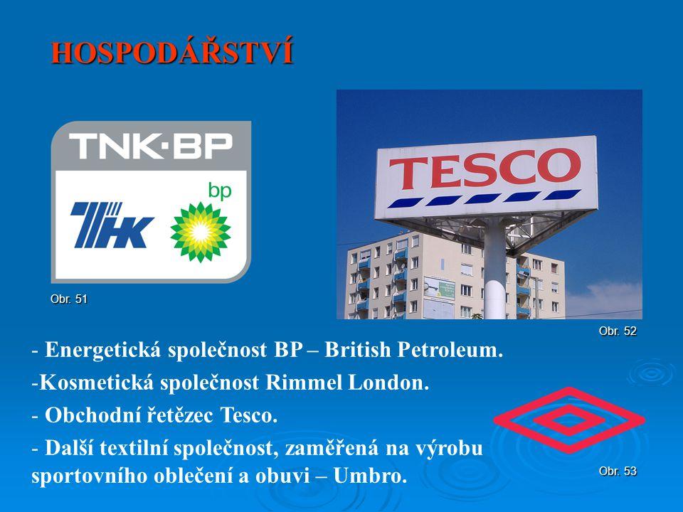 HOSPODÁŘSTVÍ Energetická společnost BP – British Petroleum.