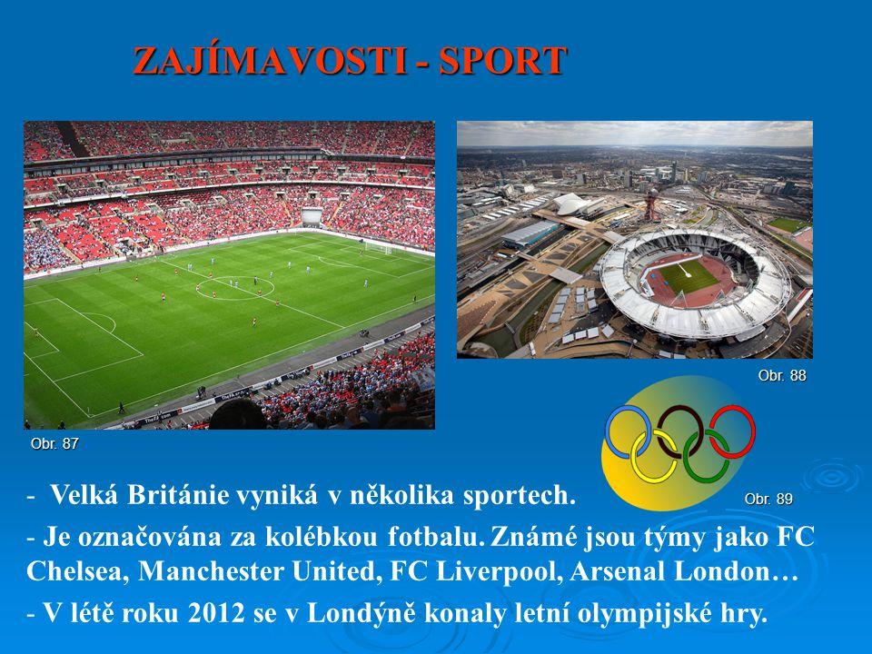ZAJÍMAVOSTI - SPORT Velká Británie vyniká v několika sportech.