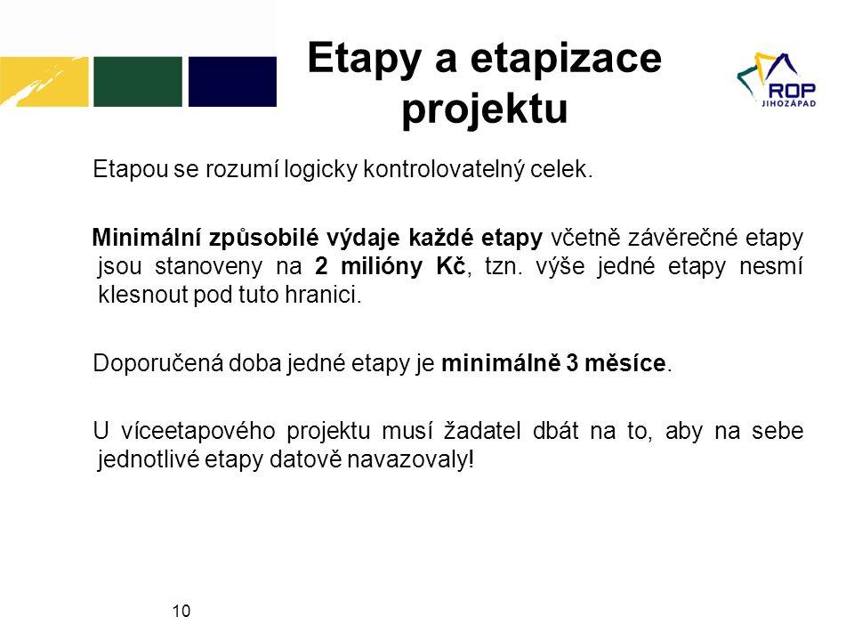 Etapy a etapizace projektu